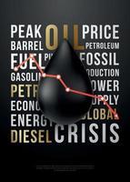 conceito de design de crise do petróleo vetor