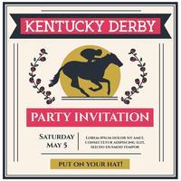 Vetor do convite da festa de Kentucky Derby