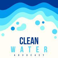 Poster da defesa da água limpa vetor