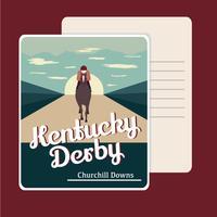 Cartão retro de Kentucky Derby Cartão Postal vetor