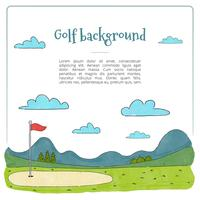 Fundo do campo de golfe vetor