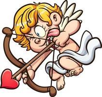 anjo querubim dos namorados vetor
