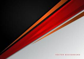 modelo conceito corporativo vermelho preto laranja e fundo cinza contraste. vetor
