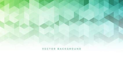 abstrato banner web verde gradiente geométrico hexágono padrão tecnologia conceito corporativo fundo com espaço para seu texto. vetor