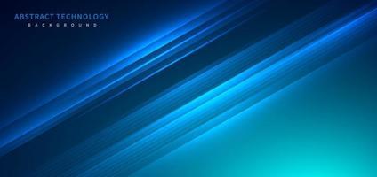 tecnologia futurista fundo listrado linhas com efeito de luz sobre fundo azul. espaço para texto. vetor