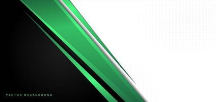 template banner corporativo conceito verde preto cinza e fundo branco contraste. vetor