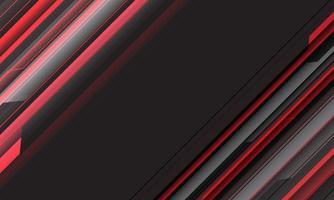 barra de linha geométrica cibernética abstrato vermelho preto com espaço em branco e design de texto ilustração vetorial de fundo futurista moderno. vetor