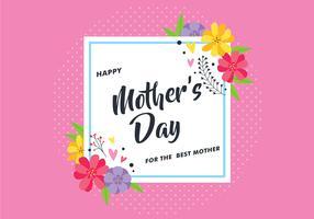 Cartão de dia das mães com flor vetor
