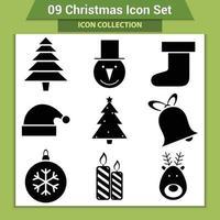 ícones do vetor de natal e decoração de ano novo