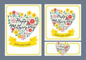 Cartão de feliz dia das mães vetor