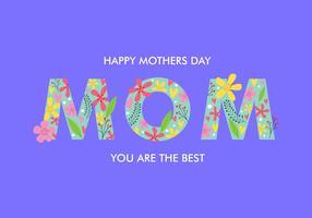 Cartão do dia de mães vetor