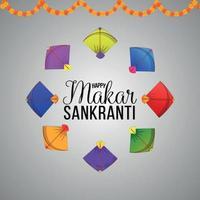 fundo criativo Makar Sankranti vetor