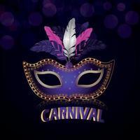 celebração carnaval roxa vetor