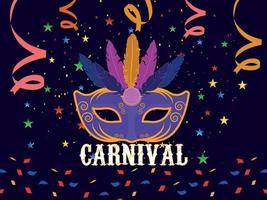 conceito de carnaval plana vetor