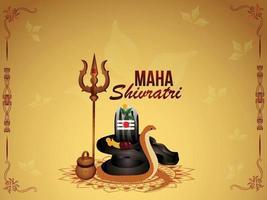 ilustração criativa do senhor shiva para mahashivratri vetor