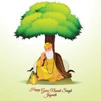 ilustração do primeiro guru sikh guru nanak dev ji vetor