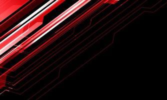 abstrato linha metálica vermelha cyber em preto com espaço em branco design moderno tecnologia futurista ilustração vetorial de fundo. vetor