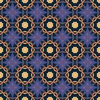 padrão sem emenda com ilustração de arabescos ornamentais de mandala abstrata. padrão decorativo clássico de azulejos. vetor