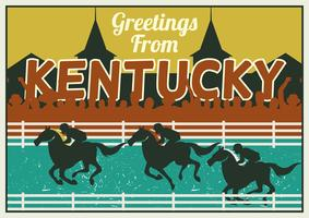Conceito do cartão de Kentucky Derby vetor