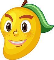 personagem de desenho animado de manga com expressão facial vetor