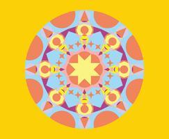 Vector caleidoscópio padrão geométrico