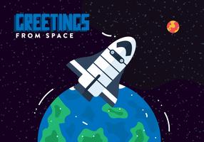 Vetor de cartão de espaço