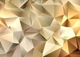 fundo geométrico de baixo poli dourado 3012 vetor