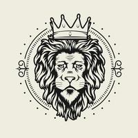 vector design de crista de leão brasão