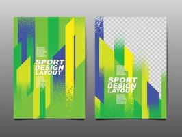 conjunto de layout de design de esporte vetor