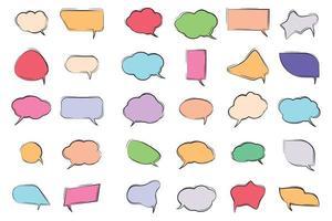 coleção de balões de fala coloridos vetor