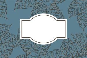 folhas de café folhagem de fundo vetor