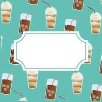 fundo padrão de café gelado vetor