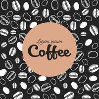 fundo padrão de café vetor
