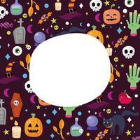 Halloween padrão de fundo com espaço para desenho vetorial de texto