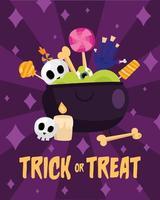 faixa de celebração do dia das bruxas doce ou travessura