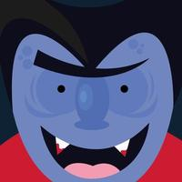 desenho vetorial de vampiro de halloween vetor