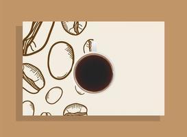 xícara de café vista de cima vetor