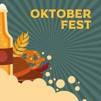 banner de celebração da cerveja oktoberfest vetor