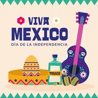 banner do dia da independência mexicana