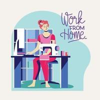 trabalhar em casa durante um surto do vírus covid-19