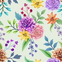 padrão sem emenda colorido com design floral botânico sobre fundo claro. vetor