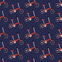 ilustração em vetor bicicleta dobrável padrão sem emenda