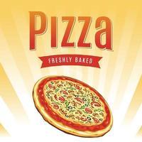 arte vetorial de pôster de pizza