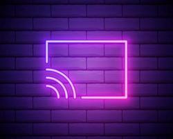 ao vivo no vetor de ícone do ar. rádio no ar, design moderno de tendência. ícone de transmissão ao vivo. símbolos e botões de transmissão ao vivo, transmissão, transmissão online