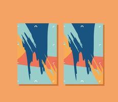 A4 posters mockups vector design
