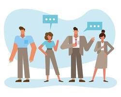 conceito de trabalho em equipe com empresários vetor