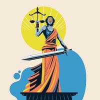senhora da justiça femida ou temis vetor