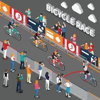 composição isométrica de bicicleta vetor