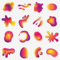 conjunto de cores vibrantes de design gradiente