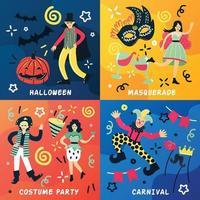 fantasia de festa doodle 2x2 vetor